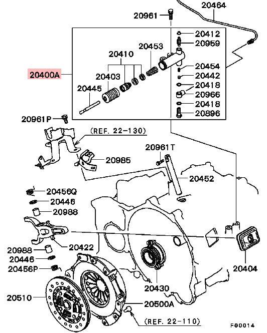 04 eclipse spyder manual transmission parts