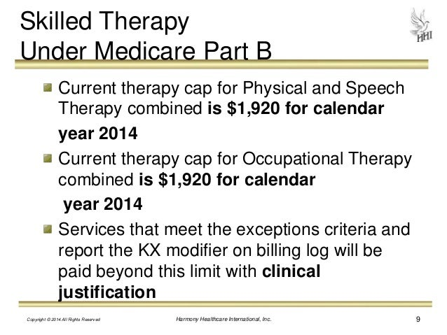 medicare part b billing manual for physical therapy