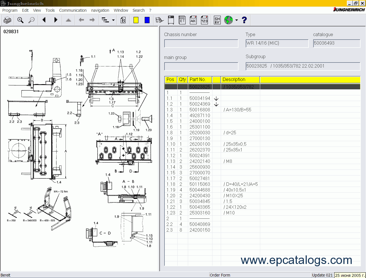 jungheinrich emc b10 parts manual