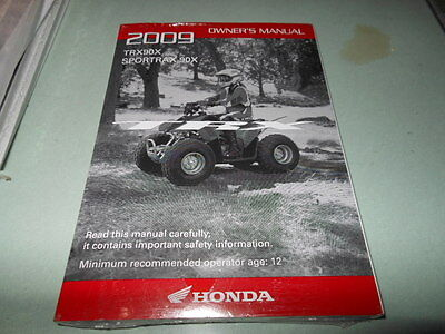 2001 honda trx400ex owners manual