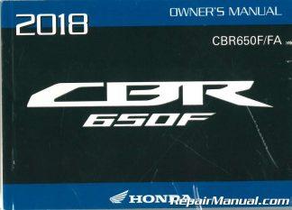 2018 honda cbr650f service manual