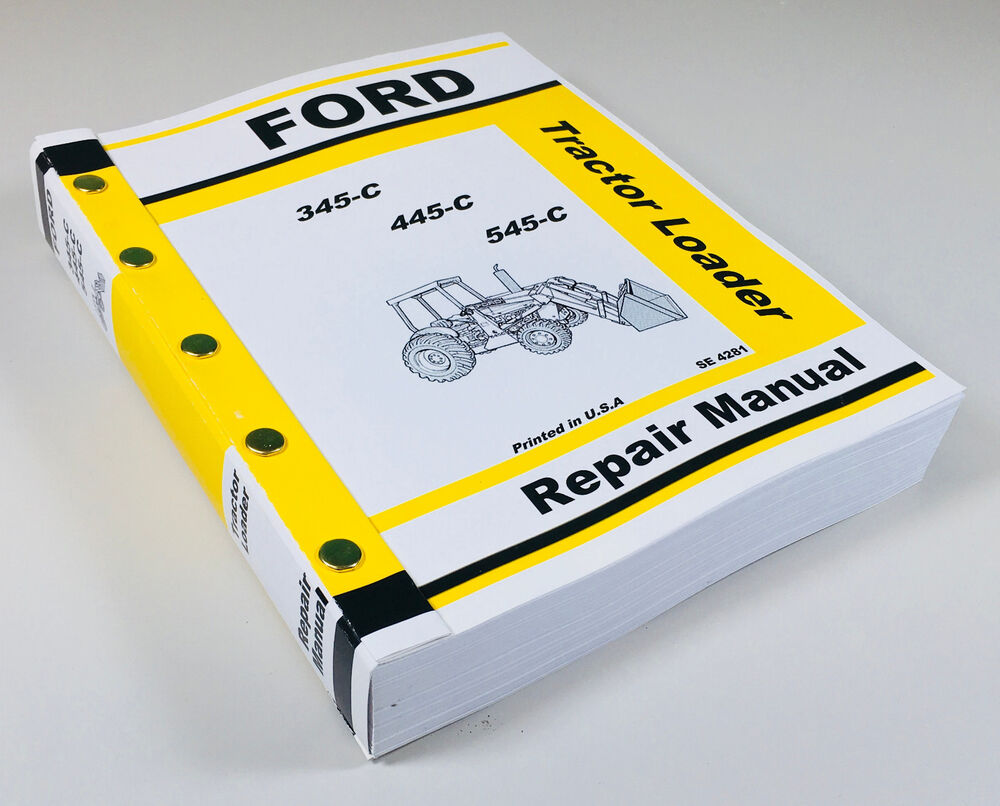 ford 545c loader parts manual