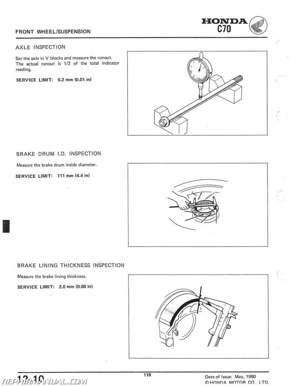 1980 honda c70 repair manual