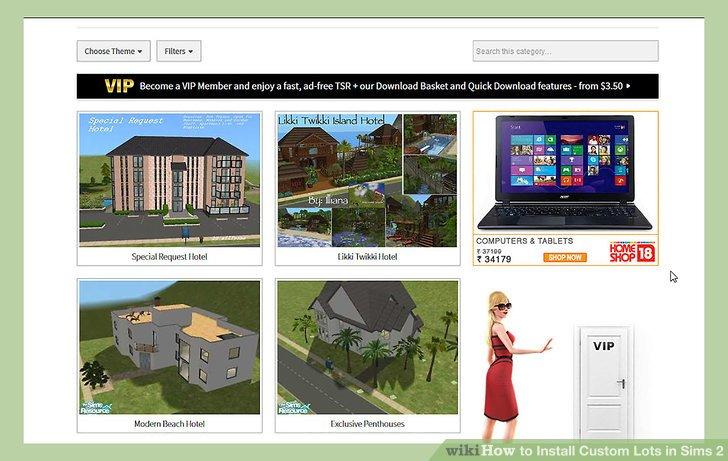 sims 2 manually install custom lots