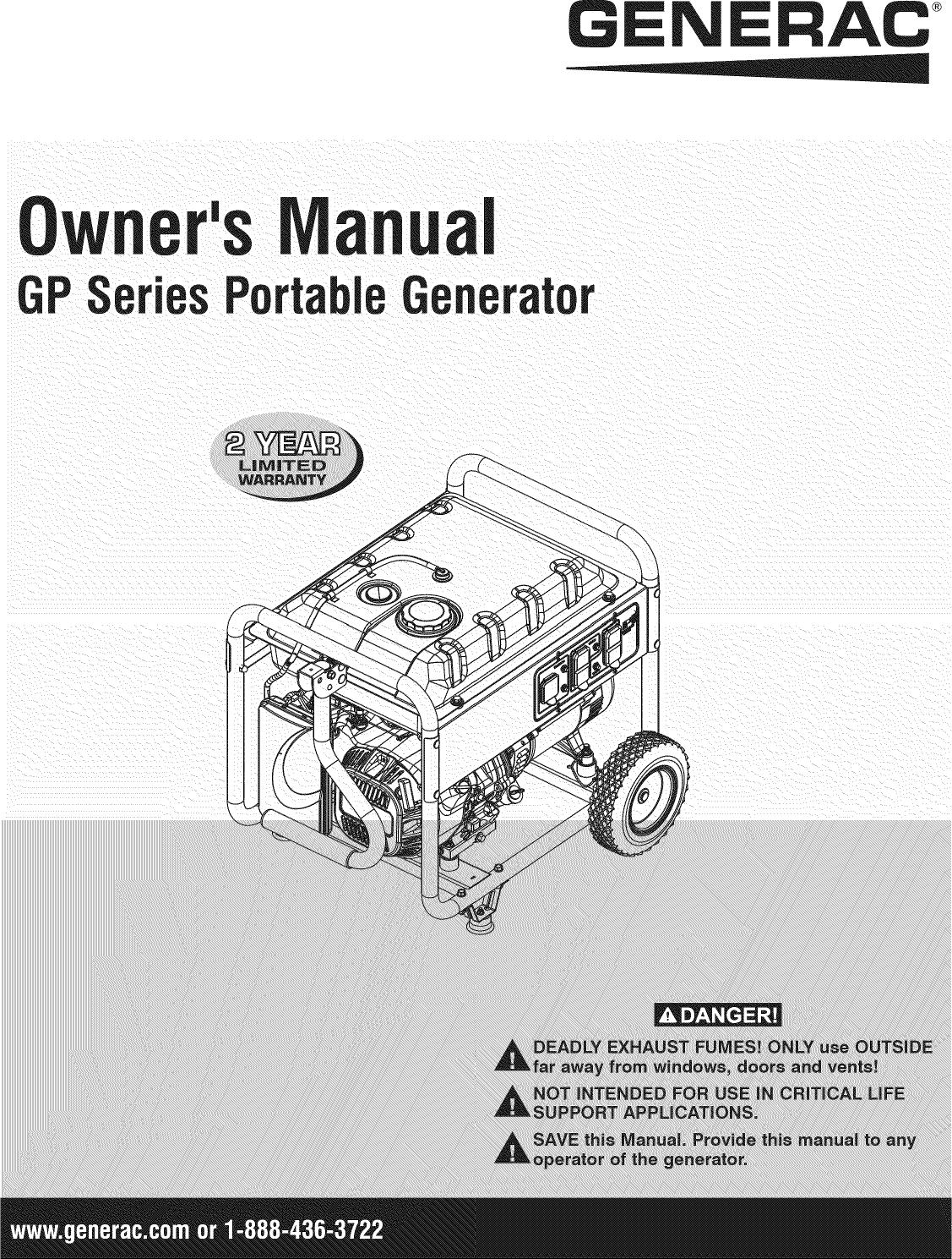 generac gp15000e parts manual pdf