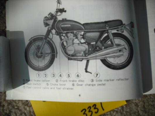 1972 honda cb500 four manual