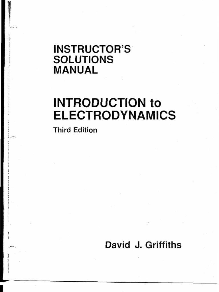 griffiths solution manual electrodynamics pdf