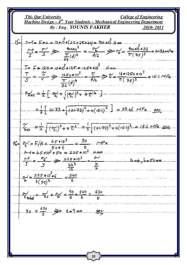 machine design khurmi solution manual