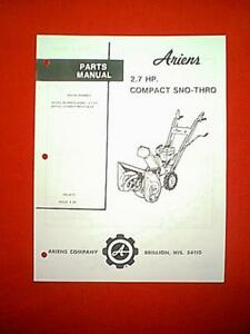 ariens 7hp 26 snowblower parts manual