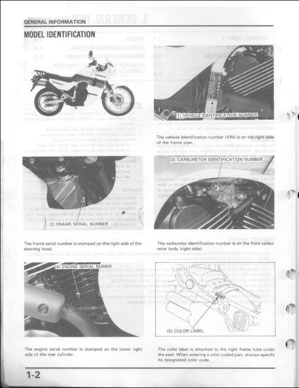 honda transalp 2006 service manual