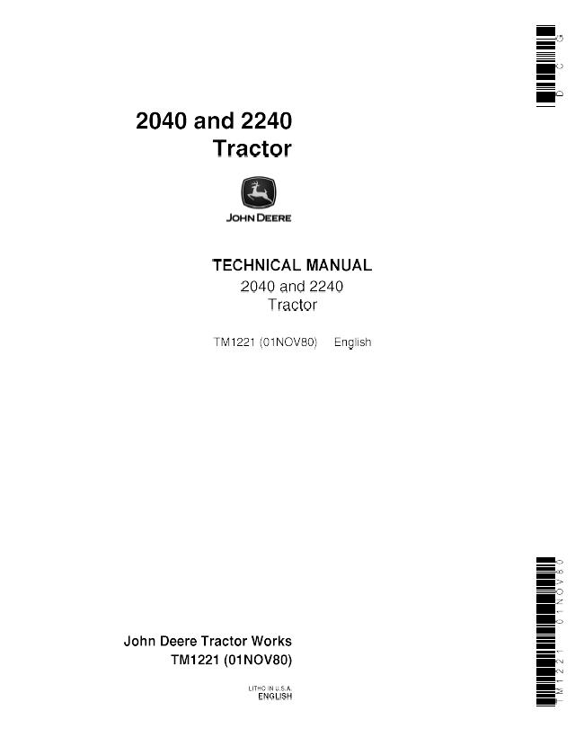 john deere 2240 parts manual