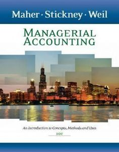 managerial accounting maher solutions manual pdf
