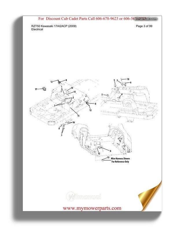 cub cadet rzt50 parts manual