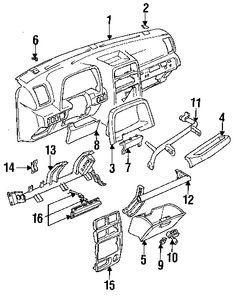 1995 geo tracker parts manual