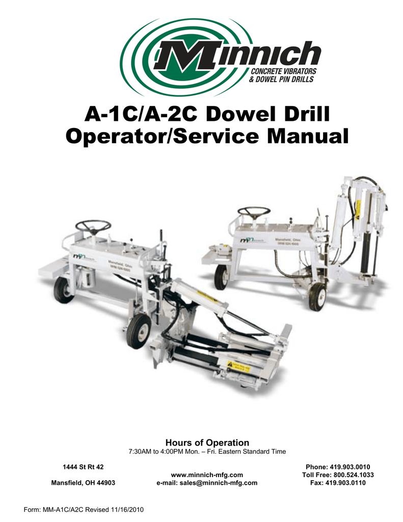 a1c parts manual minnich drill