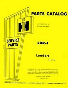 international 280a loader parts manual