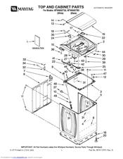 maytag bravos xl washer parts manual
