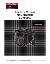 honda eu7000is owners manual pdf
