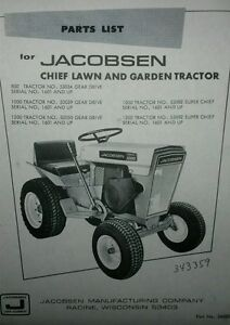 jacobsen hr 800 parts manual