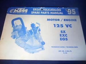 ktm 125 sx parts manual